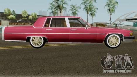 Cadillac Fleetwood Normal 1985 v1 para GTA San Andreas vista traseira
