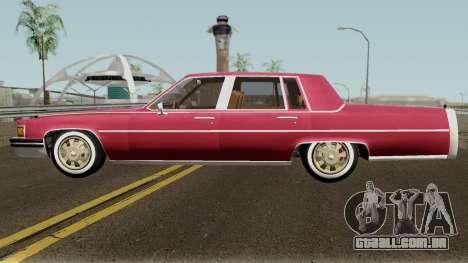 Cadillac Fleetwood Normal 1985 v1 para GTA San Andreas esquerda vista