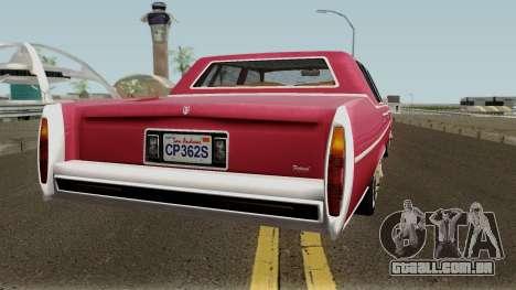 Cadillac Fleetwood Normal 1985 v1 para GTA San Andreas vista direita