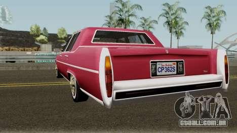 Cadillac Fleetwood Normal 1985 v1 para GTA San Andreas traseira esquerda vista