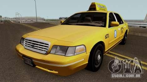 Ford Crown Victoria Taxi Downtown Cab v1.0 2003 para GTA San Andreas