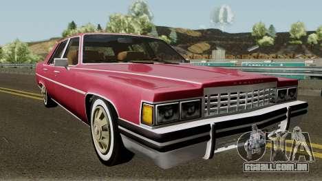 Cadillac Fleetwood Normal 1985 v1 para GTA San Andreas vista interior