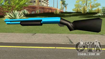 Chromegun Blue para GTA San Andreas