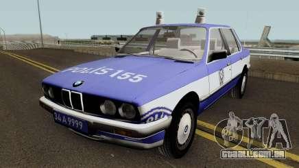 BMW 323i E30 Turkish Police Car para GTA San Andreas