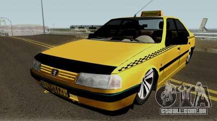 Peugeot 405 GLX Taxi Final v2 para GTA San Andreas
