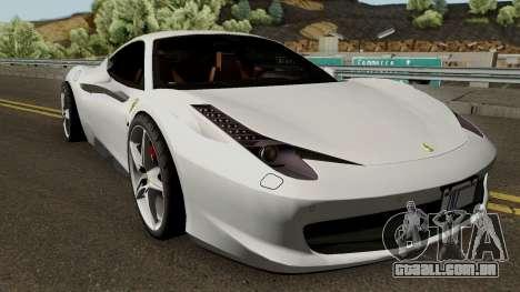 Ferrari 458 Italia 2013 para GTA San Andreas