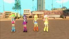 My Little Pony Equestria Girls Mod v1 para GTA San Andreas