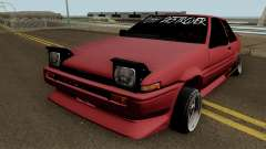 Toyota Trueno AE86 Coupe (Pussy Destroyer) 1986 para GTA San Andreas