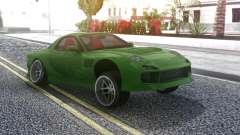 Mazda RX-7 Green Drift para GTA San Andreas