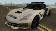 Chevrolet Corvette C7 Rendorseg para GTA San Andreas