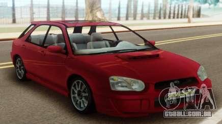 Subaru Impreza WRX Wagon Red para GTA San Andreas