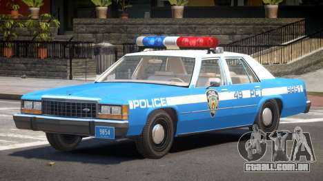 Ford LTD Crown Victoria NYC Police 1986 para GTA 4