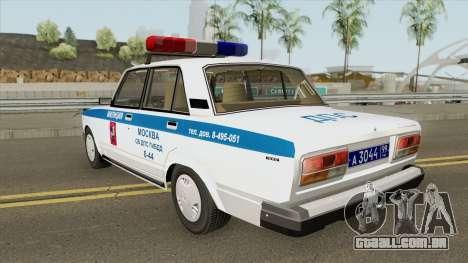 VAZ 2107 DPS (Polícia de Moscou) para GTA San Andreas