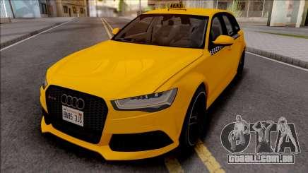 Audi RS6 C7 Taxi para GTA San Andreas