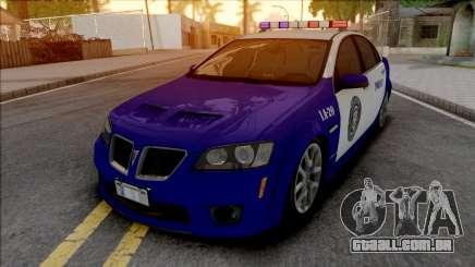 Pontiac G8 GXP LSPD para GTA San Andreas