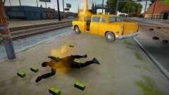 Motoristas em chamas quando um carro pega fogo