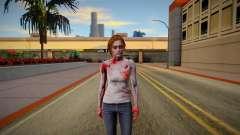 Jill Valentine Zombie para GTA San Andreas