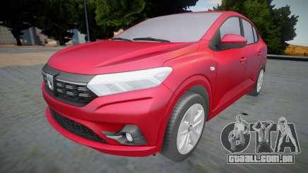 Dacia Logan 2021 (interior lowpoly) para GTA San Andreas
