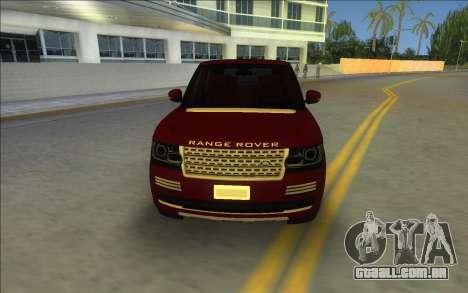 2014 Range Rover Vogue para GTA Vice City