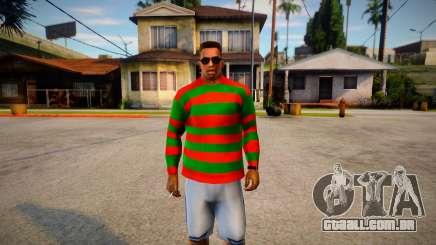 Freddy Krueger Sweater para GTA San Andreas
