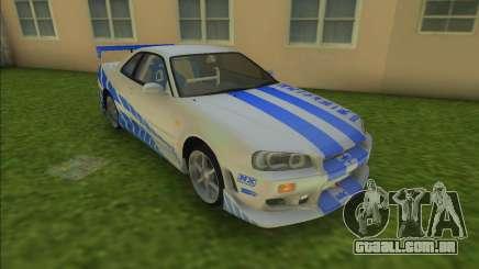 2F2F Nissan Skyline R34 para GTA Vice City