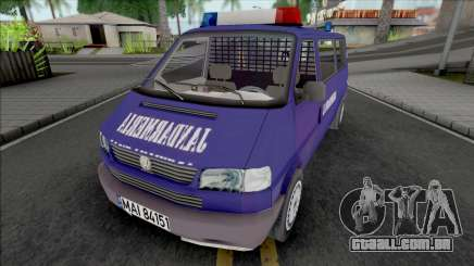 Volkswagen Caravelle Jandarmeria para GTA San Andreas