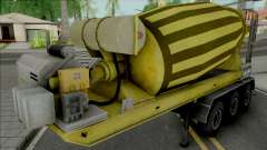 Cement Mixer Trailer Yellow para GTA San Andreas