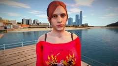 Claire Redfield Homewear para GTA San Andreas