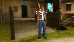 A arma nas costas para GTA San Andreas