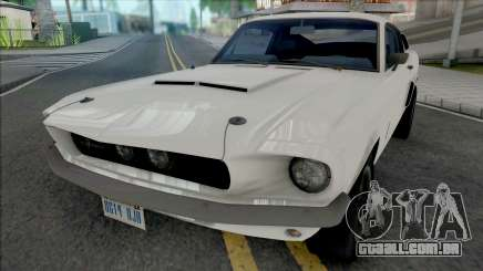 Ford Mustang Shelby GT500 1967 White para GTA San Andreas
