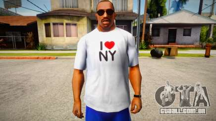 T-shirt I love NY para GTA San Andreas