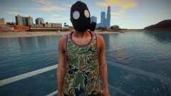 Cara com uma máscara de gás da GTA Online para GTA San Andreas