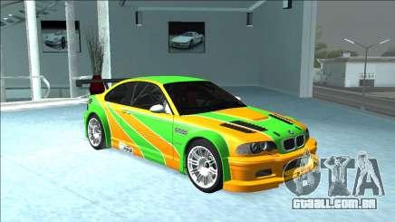 BMW M3 GTR Skin IvanCorn para GTA San Andreas