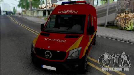 Mercedes-Benz Sprinter Scafandrii Pompierii para GTA San Andreas