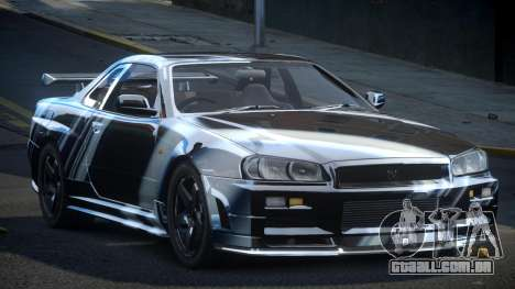 Nissan Skyline R34 PSI-U S7 para GTA 4