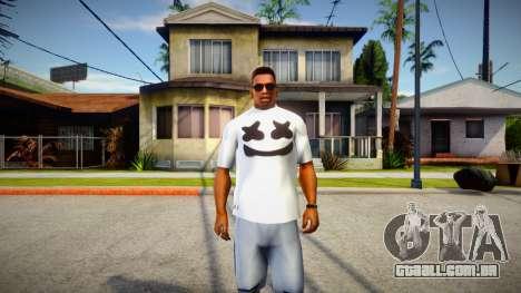 New T-Shirt - tshirtheatwht para GTA San Andreas