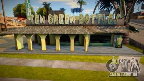 Dez texturas de barra de garrafas verdes para GTA San Andreas