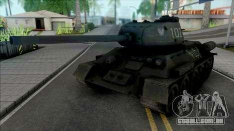 T-34-85 RUDY 102 (Czterej pancerni i pies) para GTA San Andreas