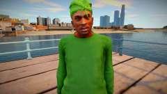 CJ as Grove Family Outfit v1 para GTA San Andreas