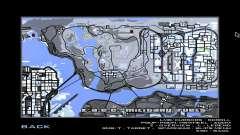 Mapa do jogo de inverno para GTA San Andreas