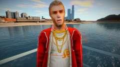 Um personagem em uma jaqueta vermelha do jogo Crime Life: Ga para GTA San Andreas