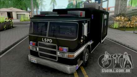 Swat Team Truck Container para GTA San Andreas