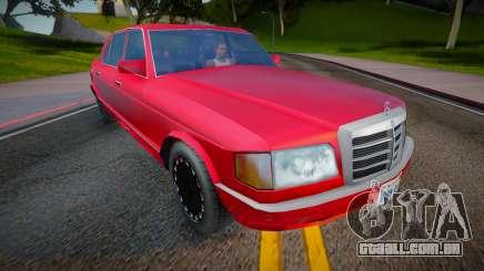 1990 Mercedes-Benz S Class (Low Poly) para GTA San Andreas