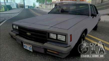 Chevrolet Impala 1986 LAPD Unmarked para GTA San Andreas