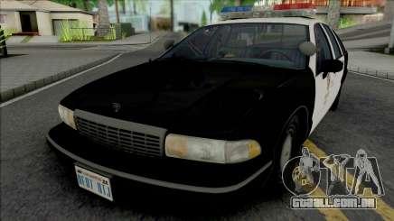 Chevrolet Caprice 1992 LAPD para GTA San Andreas