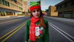 Garota com roupas de Ano Novo 2 para GTA San Andreas