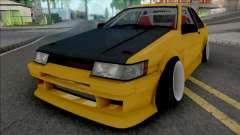 Toyota AE86 Coupe Yellow para GTA San Andreas