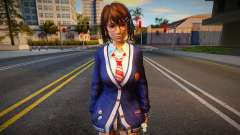 DOAXVV Tsukushi - Autumn School Wear 1 para GTA San Andreas
