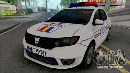 Dacia Logan 2013 Politia para GTA San Andreas