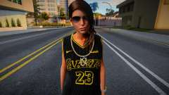 Lara Croft Fashion Casual - Los Angeles Lakers 2 para GTA San Andreas
